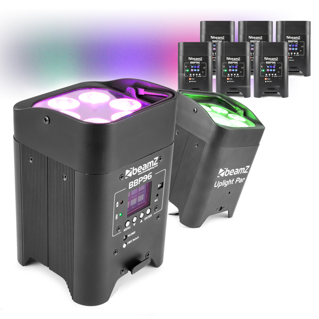 8x Outdoor Battery Operated Uplighters